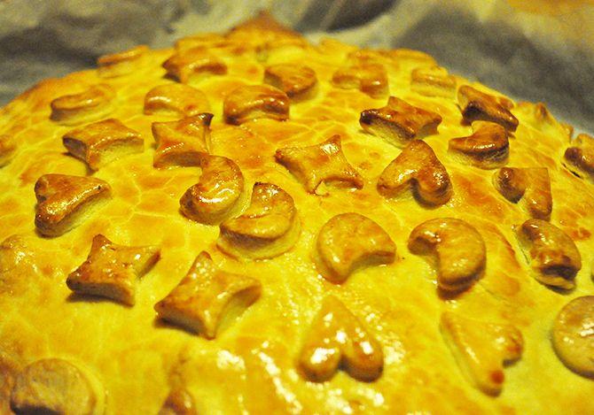Πίτα με καπνιστό ζαμπόν και μανιτάρια