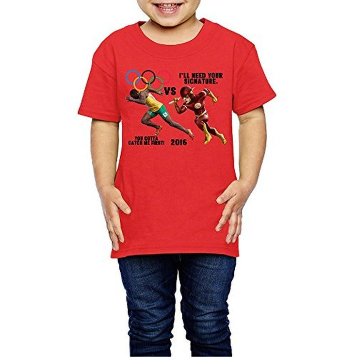 MERTYY Baby Toddler 2016 Olympic Games Usain Bolt Boys/Girls T-shirt Age 2-6 Red 5-6 Toddler - Brought to you by Avarsha.com