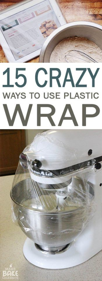 This picture would be the smartest way to use plastic wrap when I am making homemade butter.