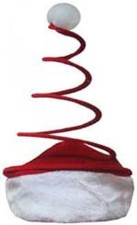 Noel Baba Anten Şapka Kostüm Aksesuarları - Parti Şapkaları Peluş ve kumaş kaplı telden yapılmış yılbaşı şapkası. Yetişkinler için uygundur.  çap 22 cm, anten uzunluğu 29 cm