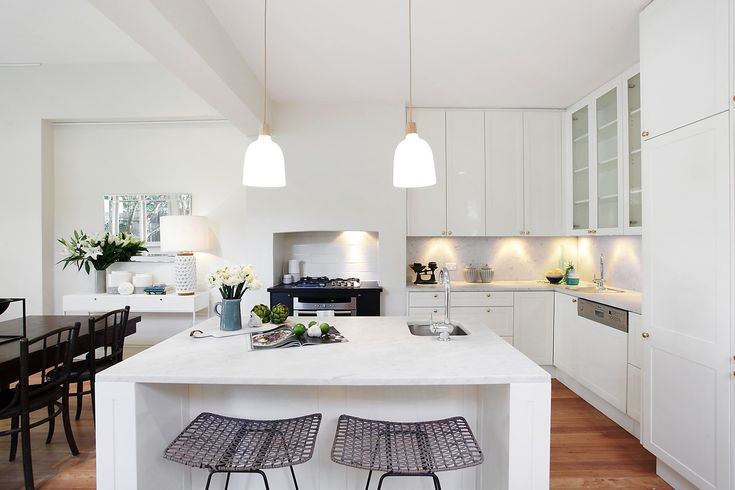 Kitchen, White, Interior Design, Chic, Modern, Stainless Steel, Real Estate, Pilcher Residential, For Sale, Annandale