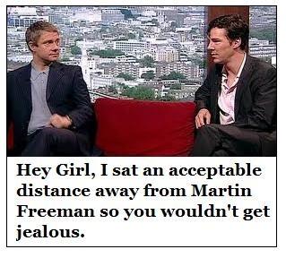 I see you've saved me a seat.  Thanks.Awesome Sherlock, Martin Freeman, Girl Memes, Puree Awesome, Hannah, Googly Eye, Hey Girls, Girls Memes, Benedict Cumberbatch