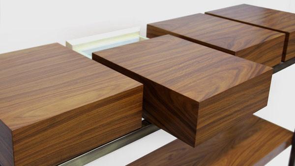 Metal and wood modern furniture by Brabbu