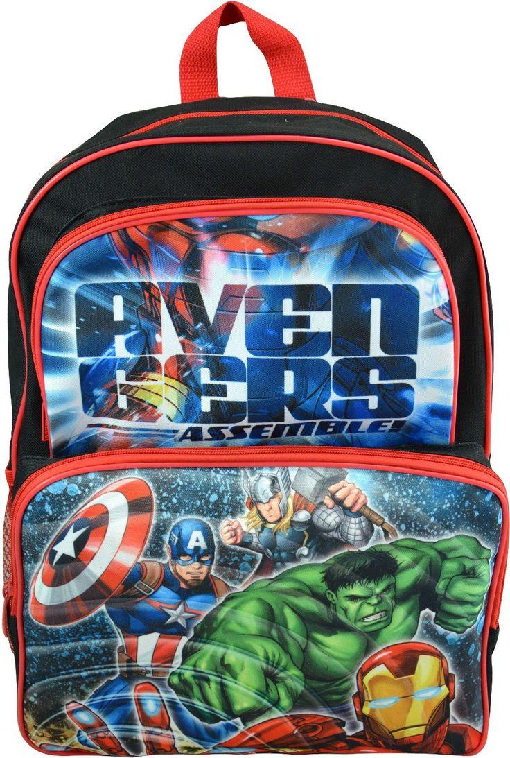 """Wholesale Backpacks Avengers Assemble16"""" Cargo Backpacks - 48 Units"""