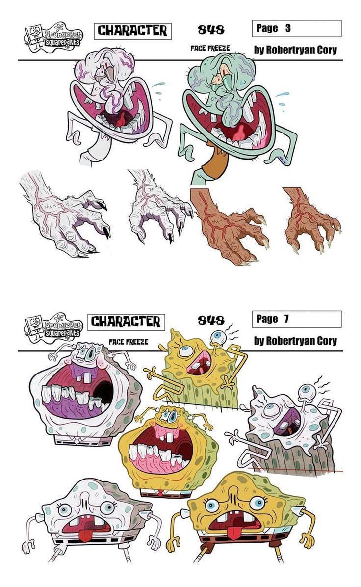 Incríveis desenhos de SpongeBob, por Robertryan Cory | THECAB - The Concept Art Blog