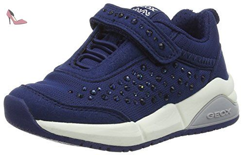 Geox Smart Boy C, Sneakers Basses Garçon - Bleu - Bleu Marine (c4002), 33