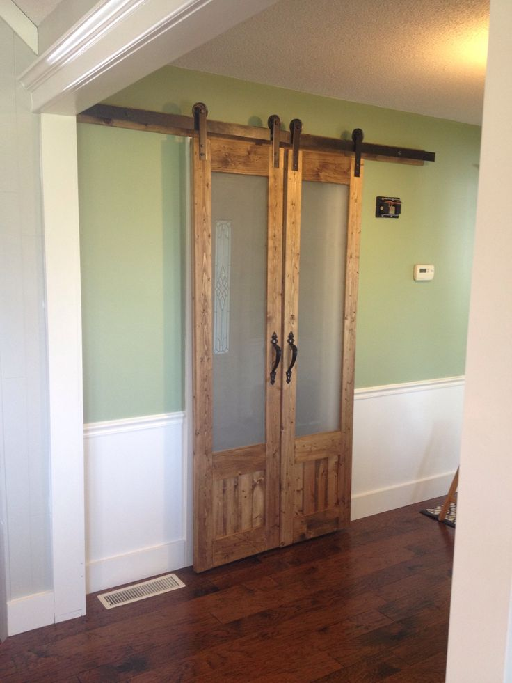 Best 25 glass barn doors ideas on pinterest interior for Sliding door to french door