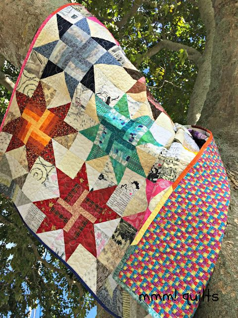 Musings of a Menopausal Melon - mmm! quilts: Whirling Stars - A Finish