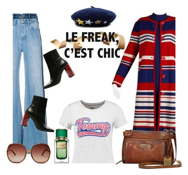 """""""Le Freak, Cést Chic"""" by insagi ❤ liked on Polyvore featuring Tommy Hilfiger, Won Hundred, Frye, Chloé, Hat Attack and Dolce&Gabbana"""
