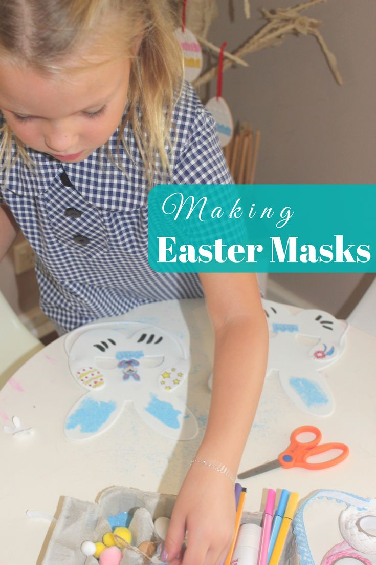 Making Easter Masks at home or preschool has never been so fun! Encourage the children to select a few decorating items and then let them create their own unique designs!