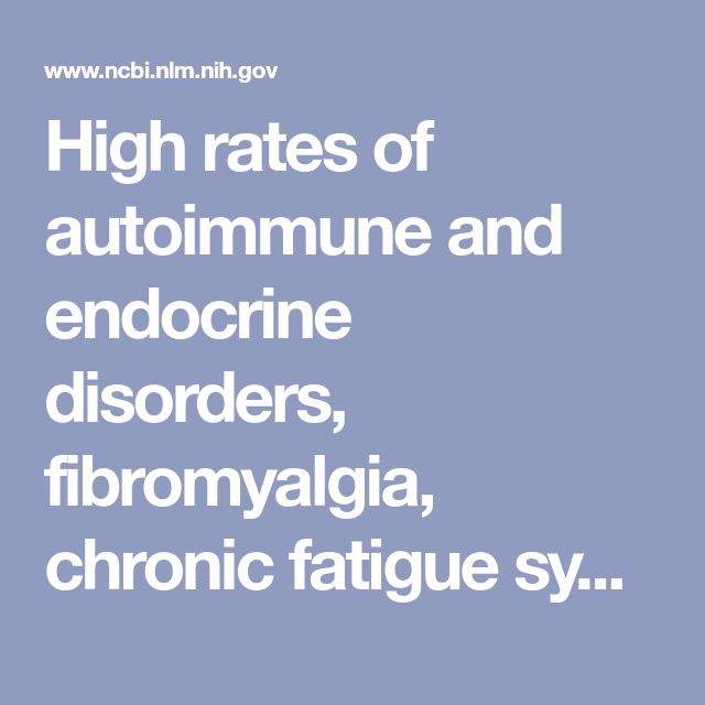 High rates of autoimmune and endocrine disorders, fibromyalgia, chronic fatigue syndrome and atopic diseases among women with endometriosis: a survey... - PubMed - NCBIMillions of people are getting sick and Doctors are saying we are crazy because they don't know how to treat these new illnesses. They never go back to school but we thank there God, get over that! They just want to push there pills to make more money. Speck out about all of these invisible illnesses! #ME TOO SICK