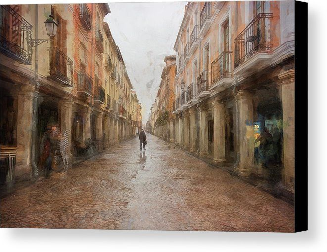 Calle Mayor Alcala De Henares Spain Canvas Print by Joan Carroll. All canvas prints are professionally printed, assembled, and shipped within 3 - 4 business days and delivered ready-to-hang on your wall. Choose from multiple print sizes, border colors, and canvas materials. Visit joan-carroll.pixels.com for more #art #photography #fashion and #homedecor items from #SPAIN and around the world! @joancarroll +JoanCarroll