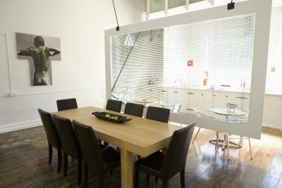 Diy Plexiglass Sheet Room Divider Thumbnail Living Room