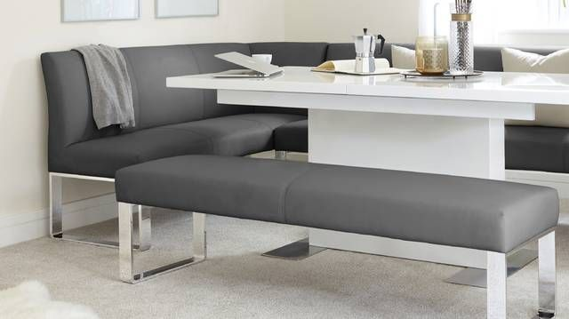 Stupendous Sanza Grey Gloss And Loop 5 Seater Right Hand Corner Bench Alphanode Cool Chair Designs And Ideas Alphanodeonline