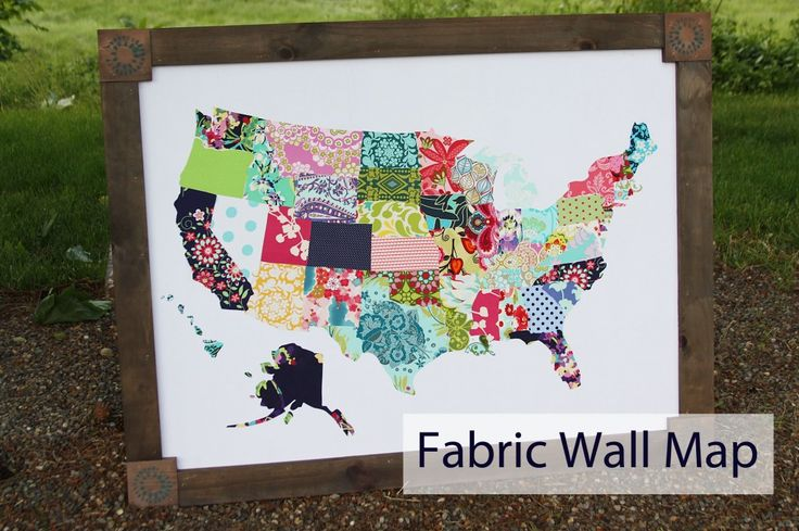Wall Map made out of fabric and pallet wood from BeingBrook