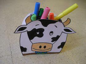 ¿Quien ha dicho que en Suiza no hay más que vacas?   Pues si aunque esto sea una vaca, y muy graciosa, también hay portalápices muy útiles y...