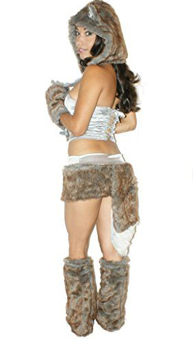 sexitu furry brown wolf costume small click image twice for more info see a larger selection of womens animal costume at - Womens Wolf Halloween Costume