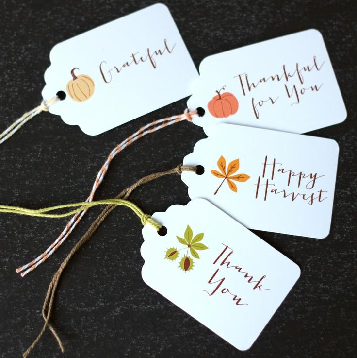 Happy Harvest Tags -  free printable gift tags | The Twinery