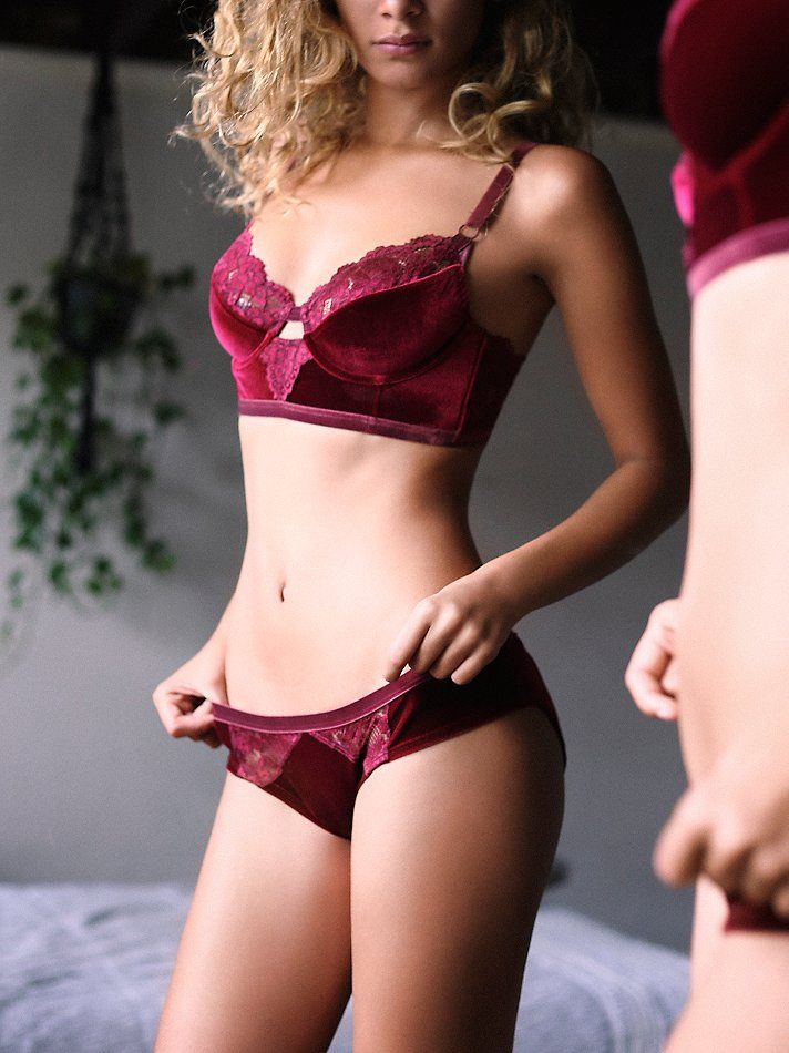 Intimately Light & Shadow Velvet Undie at Free People Clothing Boutique