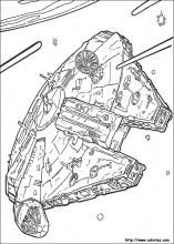 Star Wars, le falcon de Han Solo