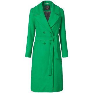Lange jas met kraag Groen