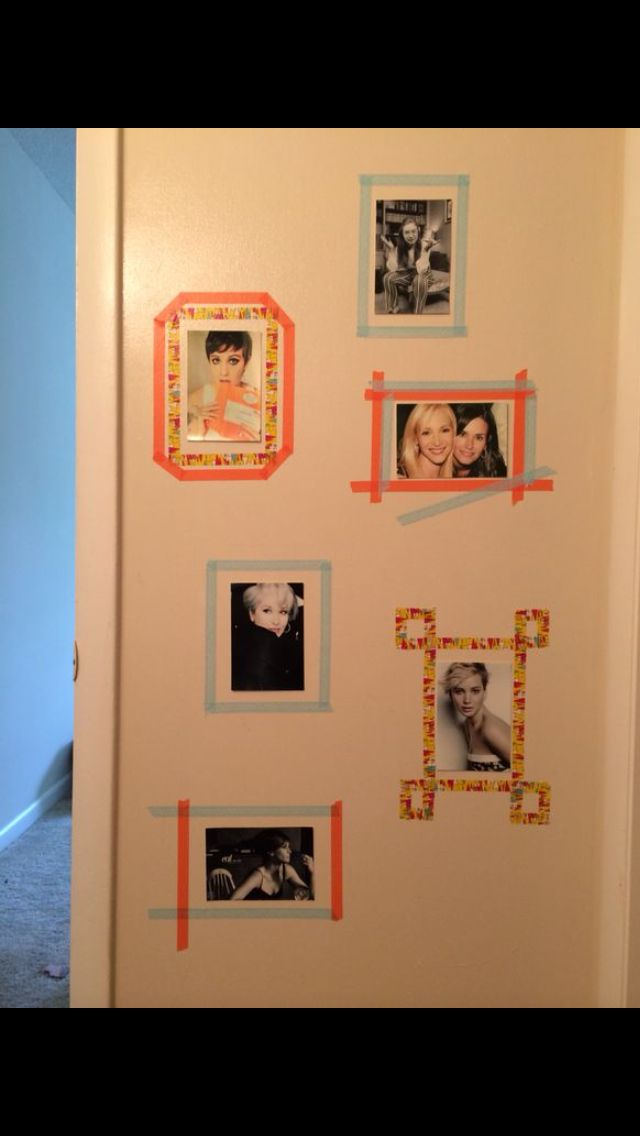 My bathroom! Made the frames with washi tape and the pictures from Kodak Kiosk!
