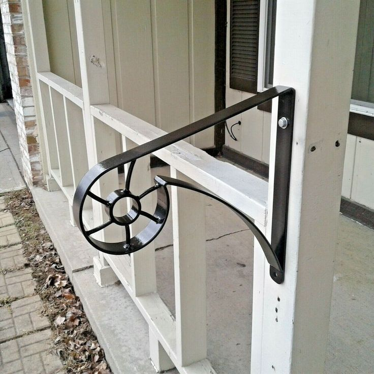 Best New Custom Made Wrought Iron Handrail Grab Rail Stair Small 1 2 Step Porch Decor Wrought Iron 400 x 300