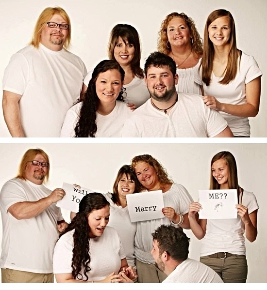 Family Pictures Turned Surprise Proposal #engaged