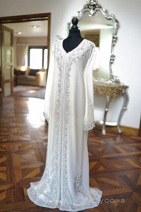 Al Mazyoona Dubai Arabic Chiffon Kaftan Dress Abaya by Almazyoona