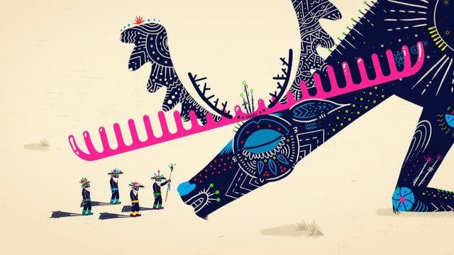 Basado en un cuento huichol de tradición oral   Lengua: Huichol del este de Jalisco  Créditos Traducción y Locución Wiyeme Salvador López Ilustrador Enrique Sañudo  www.enriquesanudo.com Dirección y Producción COMBO Animación COMBO / Enrique Sañudo Música Enrique Quiroz / Biovo Diseño de Audio Wetback / Igor Figueroa  Versión wixárika Mat+ari muka he k+arix+ tsíe mieme Me p+teku xaata kename meri pait+, ta ´iwat+arima me hayek+ reyetewakaku haramara tsíe, ´Etsiwa xeik+a ´u   he...