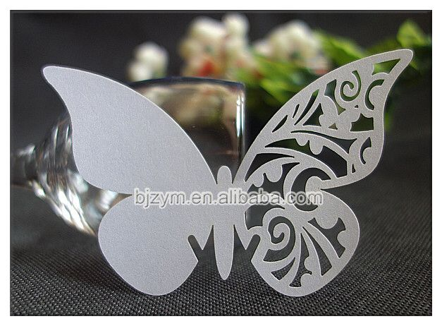 Check out this product on Alibaba.com APP Butterfly place name cards for wine glass cups Escort Cards