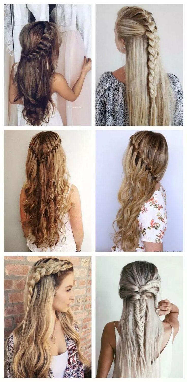 √59 Acconciature intrecciate alla moda per capelli lunghi per apparire acconciature #braided incredibili …