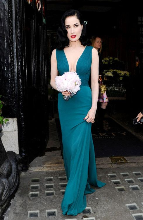 Dita Von Teese leaving an event for her new perfume