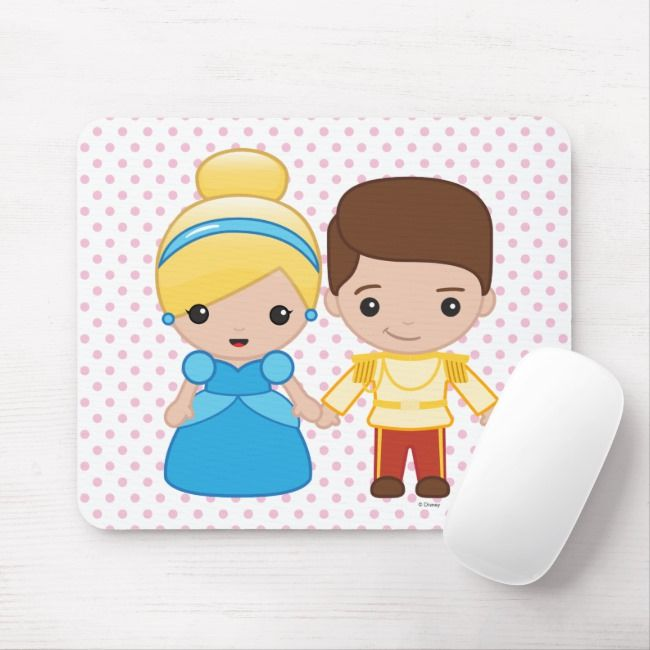 Cinderella And Prince Charming Emoji Mouse Pad Zazzle Com Black And White Vectors Patterns Cinderella Prince Charming Prince Charming Disney Princess
