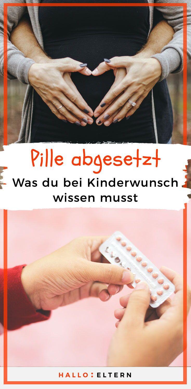 Schwanger werden nach Absetzen der Pille   Pille absetzen