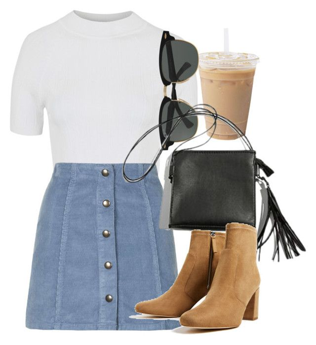 Untitled #5853 by laurenmboot on Polyvore featuring polyvore, fashion, style, Topshop, Ray-Ban and clothing