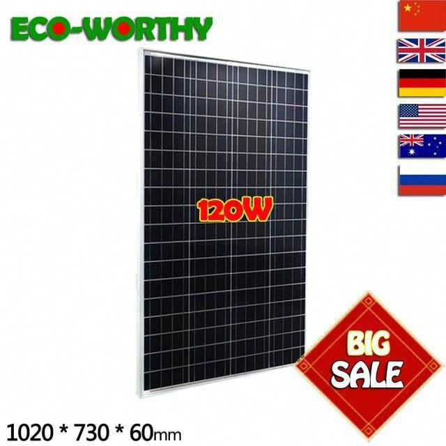 120w 18v Poly Solar Panel A Class Battery Charge For Caravan Boat Home Off Grid Solar Energy System Solar Cell So In 2020 Off Grid Solar Solar Energy System Solar Cell