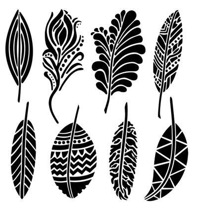 Stencils BD Mini Fancy Feathers - Colouricious