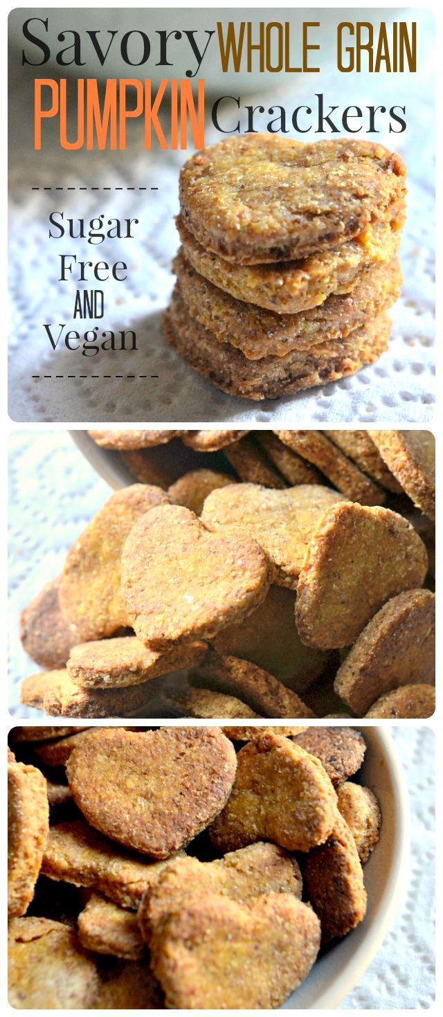 House Vegan: Savory Whole Grain Pumpkin Crackers
