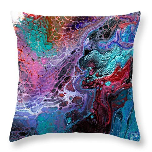 "#933 Dragons Clash Throw Pillow by Expressionistart studio Priscilla Batzell.  Our throw pillows are made from 100% spun polyester poplin fabric and add a stylish statement to any room.  Pillows are available in sizes from 14"" x 14"" up to 26"" x 26"".  Each pillow is printed on both sides (same image) and includes a concealed zipper and removable insert (if selected) for easy cleaning."