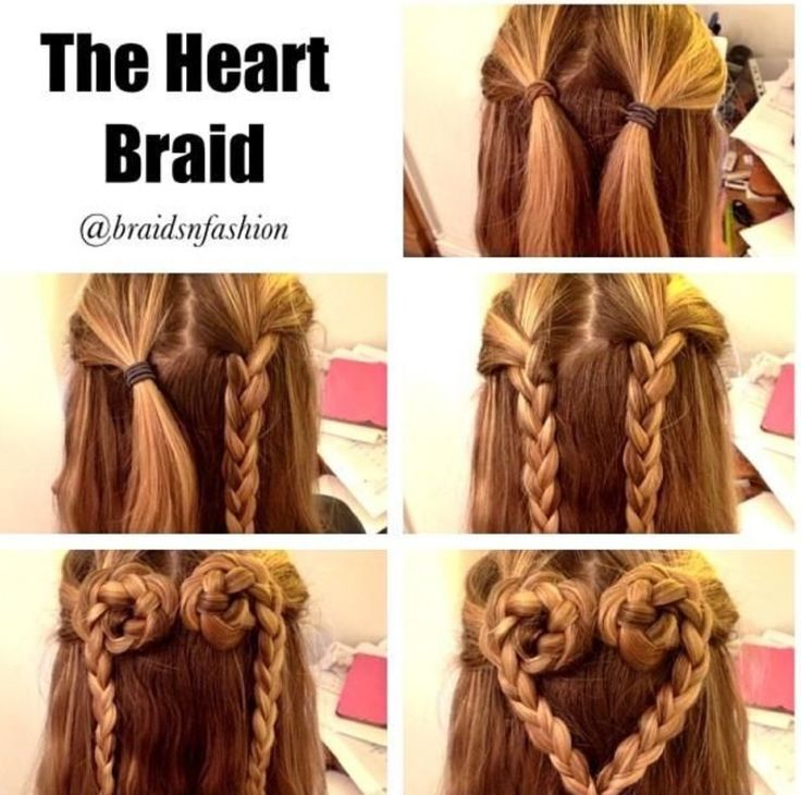 Love heart braid