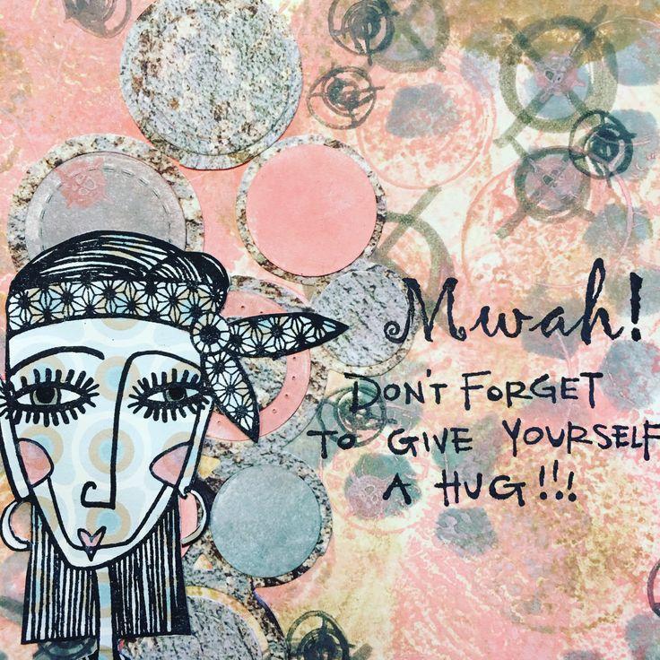 Art journal age with BadAss stamps and Elizabeth Craft Designs dies.