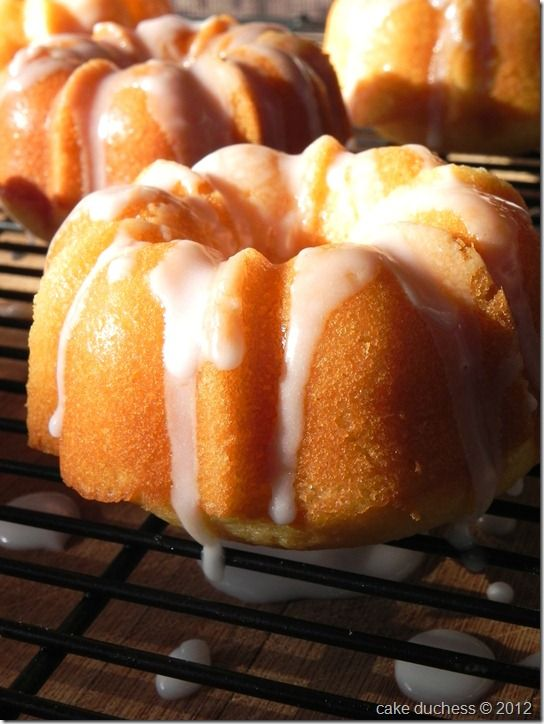Orange Mini Bundts  Reminds me of that great scene from My Big Fat Greek Wedding.    What tis it?  A bundt.  A what?  A bundt!      And who doesn't love a mini bundt.