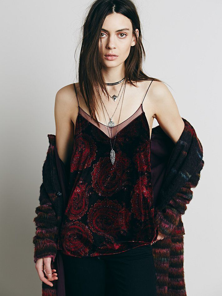 Intimately Velvet Printed Tank at Free People Clothing Boutique