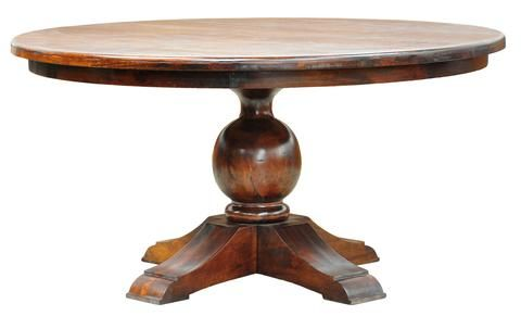 Mykonos 4-Leg Round Dining Table 60