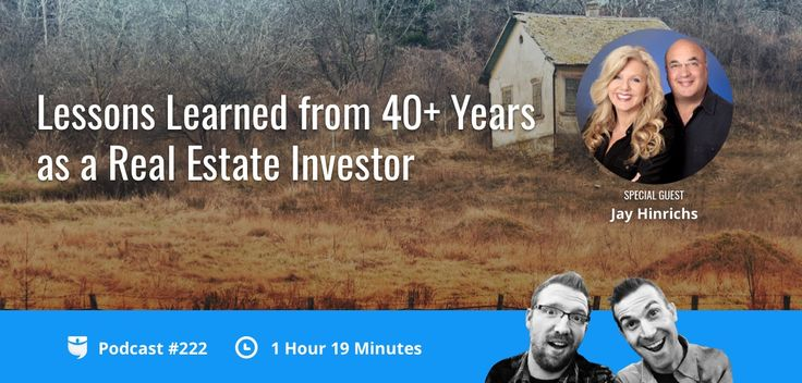 BiggerPockets Podcast 222: Lessons Learned from 40+ Years as a Real Estate Investor with Jay Hinrichs https://www.biggerpockets.com/renewsblog/bp-podcast-222lessons-learned-40years-real-estate-investor-jay-hinrichs/?utm_campaign=crowdfire&utm_content=crowdfire&utm_medium=social&utm_source=pinterest