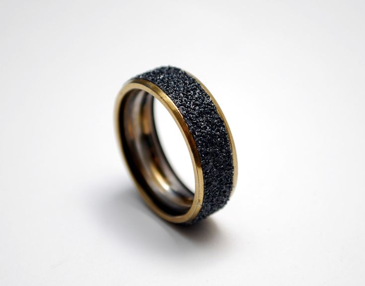Gold Steel Skate Ring Made from Recycled Skateboard Bearing and Grip Tape by everskate on Etsy https://www.etsy.com/listing/243051420/gold-steel-skate-ring-made-from-recycled