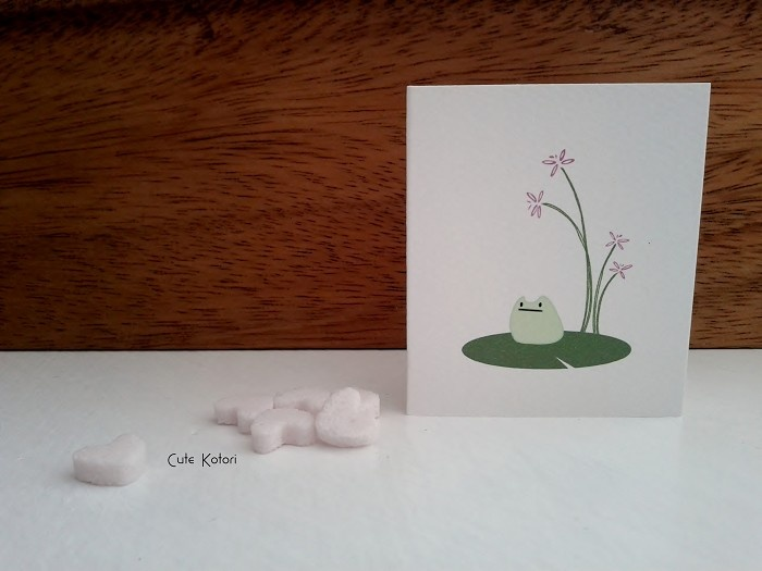 Small Card - Small frog on lily pad