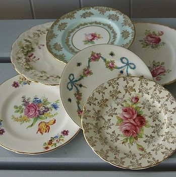I think mismatched dishes are so darling to use...lovely and adds great colors and patterns to your table.