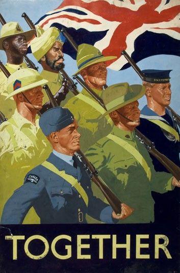 Unity of Strength Together (British Empire servicemen). Artist: William Little.